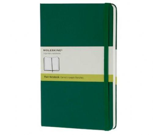Green Large Plain Notebook